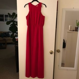 Forever 21 red maxi dress with slit